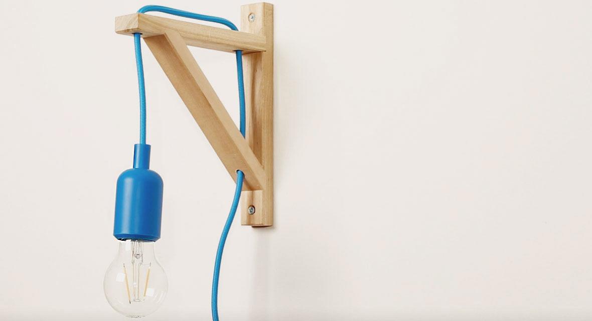 Lampe aus Regalwinkel selber machen