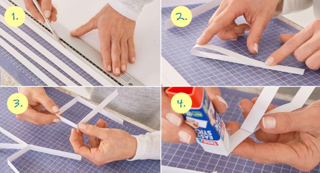 Anleitung zum Papiersterne falten aus Papierstreifen