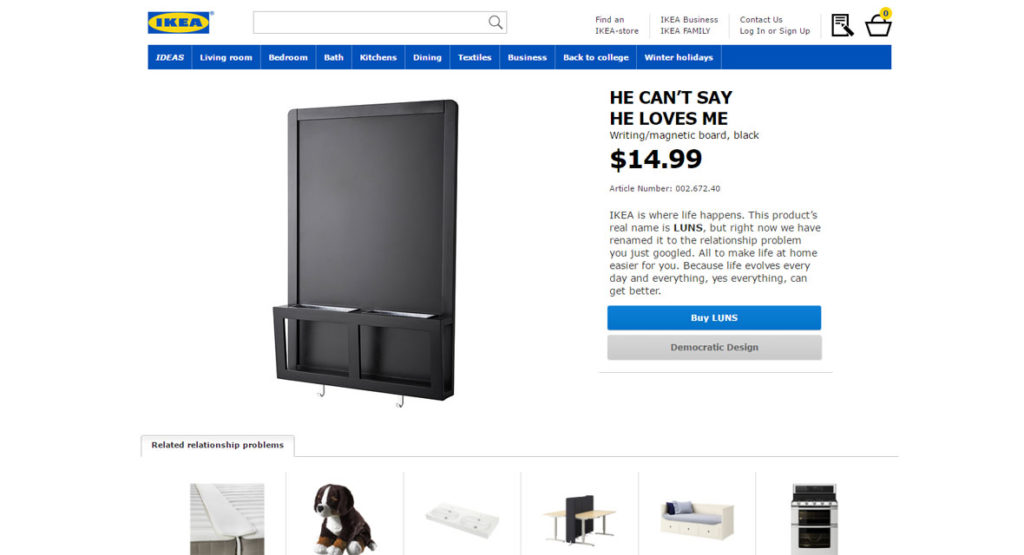 ikea gibt 100 produkten neue namen und wird zum paartherapeuten. Black Bedroom Furniture Sets. Home Design Ideas