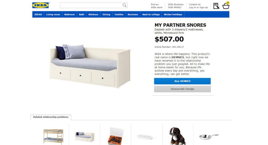Ikea benennt Produkte in Beziehungsprobleme um