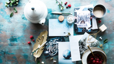 Weihnachtskarte gestalten mit Bügelperlen