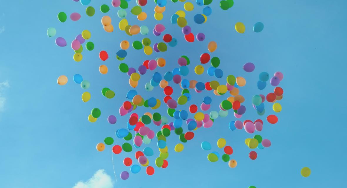 Lampenschirm basteln aus einem Luftballon