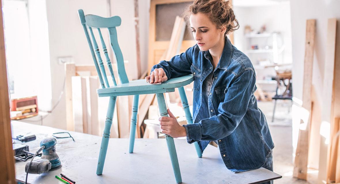 kinderk che selber machen aus einem alten stuhl. Black Bedroom Furniture Sets. Home Design Ideas