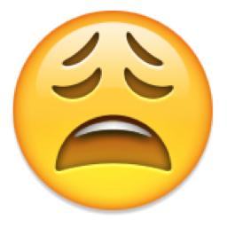 Emoji macht einen jammernden Gesichtsausdruck.