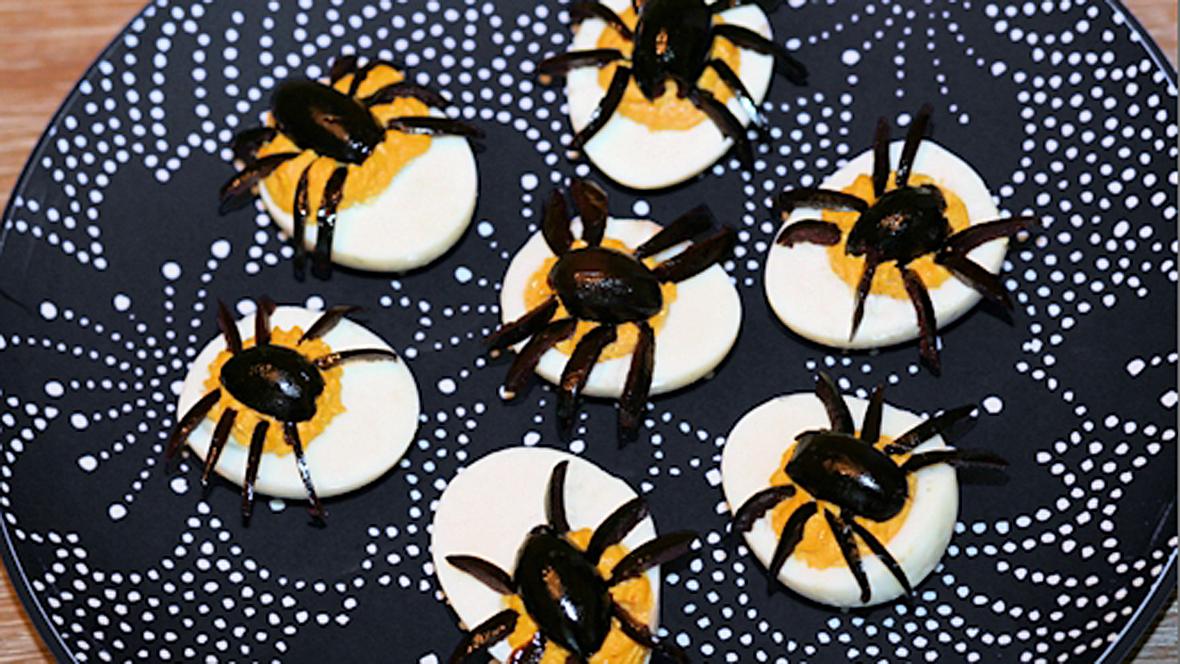 Halloween-Rezept Spinneneier