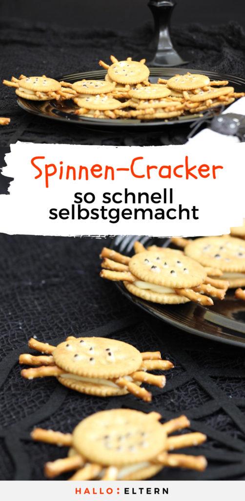 Halloween Essen Rezept für Spinnen-Cracker