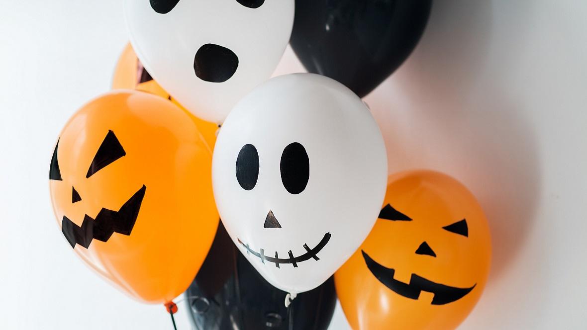 halloween deko ideen idee mit luftballons kinder