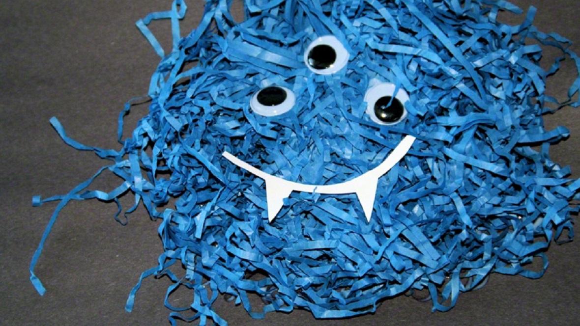 Halloween-Monster aus Papier basteln