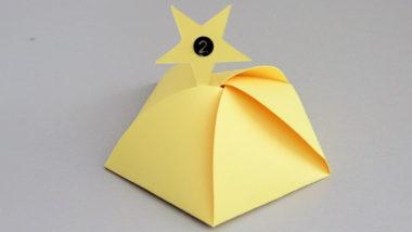 Adventskalender-Schachteln in Sternenform