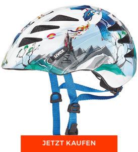 Geschenke zur Einschulung: Fahrradhelm mit Drachenmotiv von Uvex