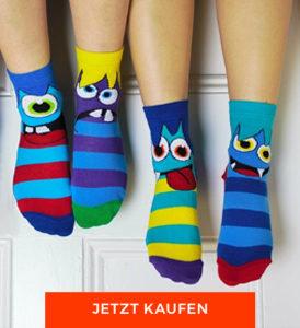 Geschenke zur Einschulung: Monstersocken von Oddsocks