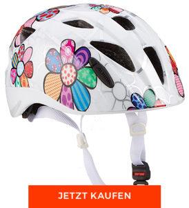 Geschenke zur Einschulung: Fahrradhelm mit Blumenmuster von Alpina