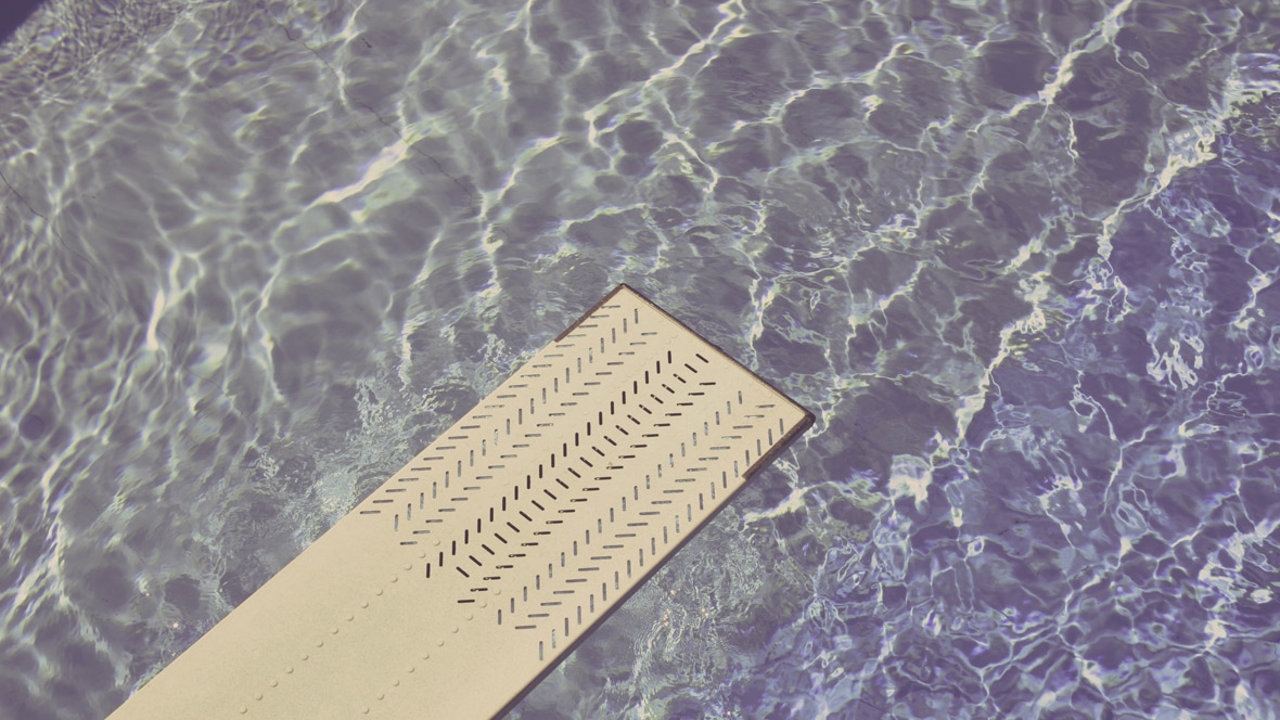 Sprungbrett ins Wasser