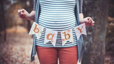 Babybauch einer Schwangeren