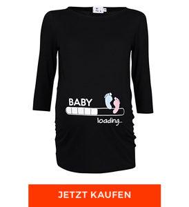 Damen T-Shirt Babyfüßchen Druck von Happy Mama