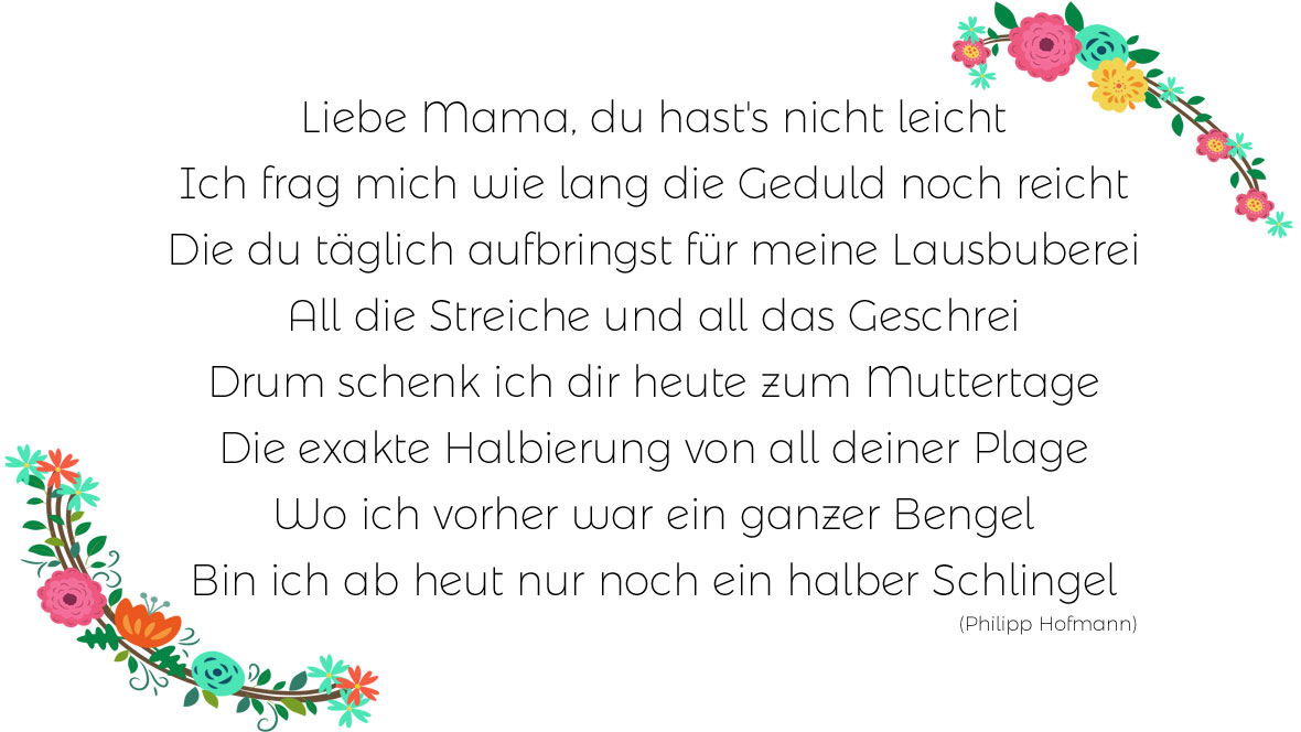 Die schönsten Muttertagsgedicht
