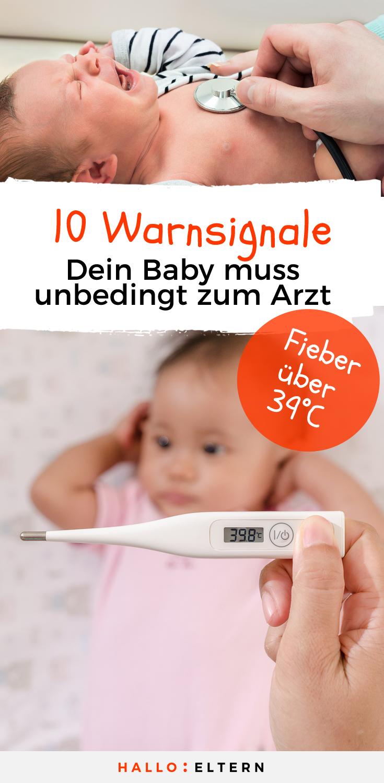 """Pin: """"10 Warnsignale, das Baby zum Arzt zu bringen"""""""