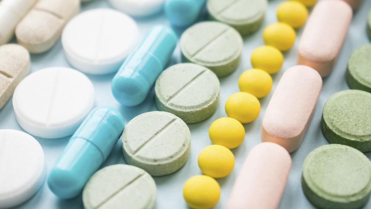 Schwangerschaftsvitamine als bunte Pillen