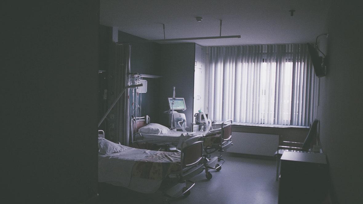 Ein Krankenhaus, in dem Präeklampsie/ Schwangerschaftsvergiftung behandelt wird