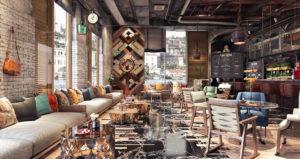 Modernes Restaurant von innen