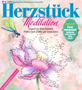 """Cover des neuen Herzstück-Malbuchs """"Meditation"""""""