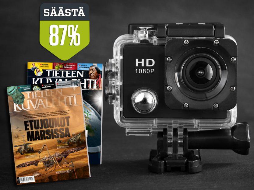 Tieteen Kuvalehti -lehti + PROX11 Full HD Action -kamera