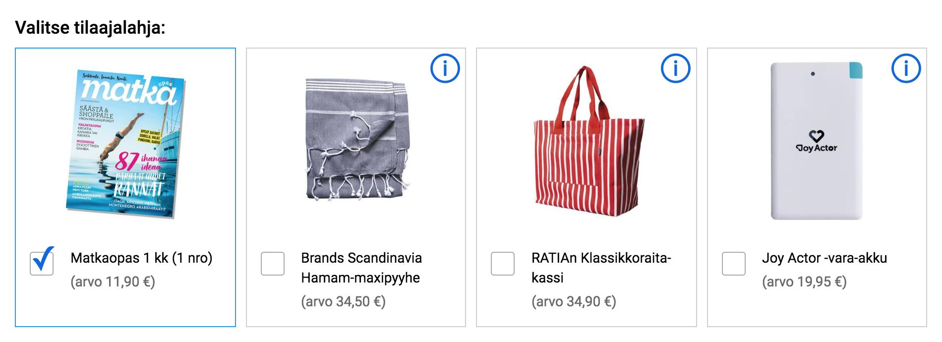 Matkaopas 4 nroa 8kk 29 € (norm 42 €) + lahja valinnan mukaan