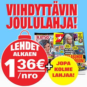 1.36eur / lehti – Seiskan ja Katso -lehden JOULUKAMPPIS