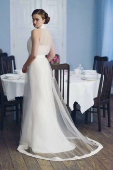 Brautkleid Empire raffiniert