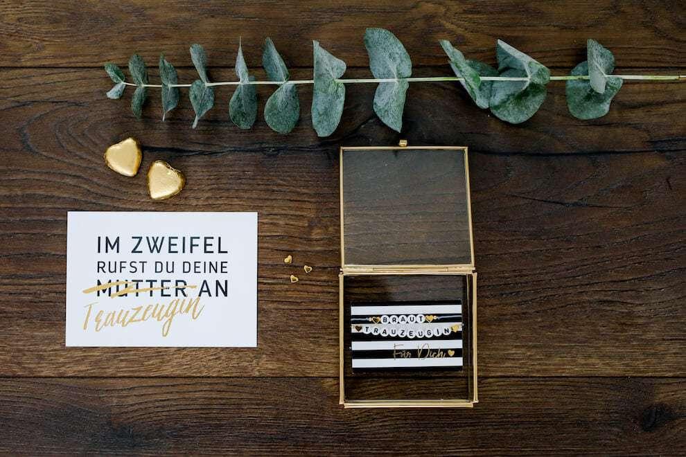 Goldkiste Geschenkebox Trauzeugin