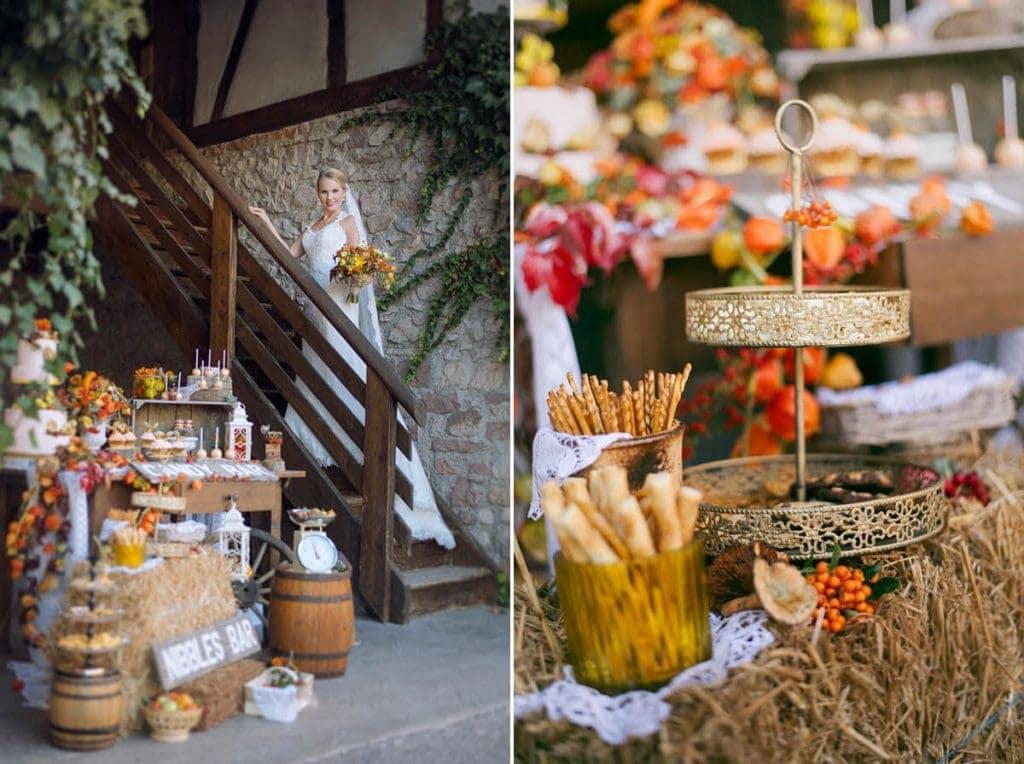 Inspiration Rustikale Hochzeit Im Herbst