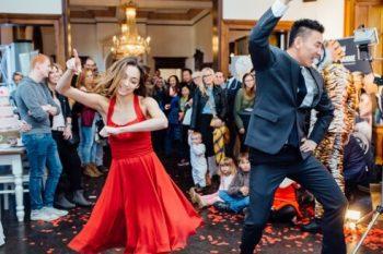 """Tanzschule Tanzraum auf der  Hochzeitsmesse """"Tatsächlich Liebe"""""""