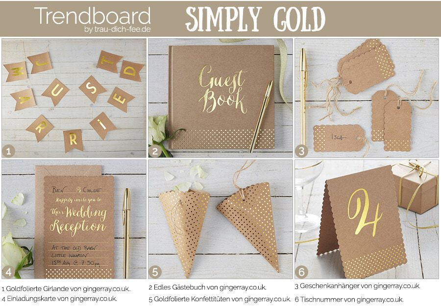 Trendboard simply gold