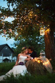 Romantischer Ausklang einer tollen Vintage-Hochzeit!