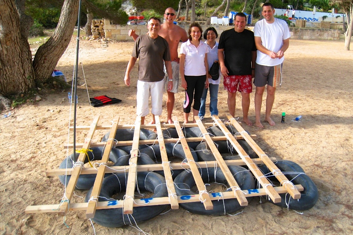 construction of rafts mallorca