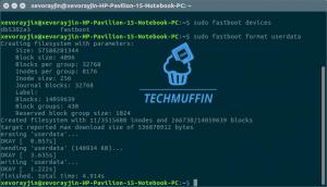 Comando eseguito su Ubuntu