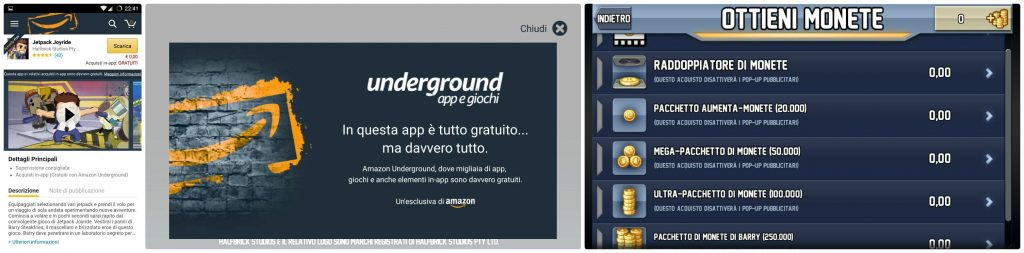 Amazon Underground - Acquisti In App