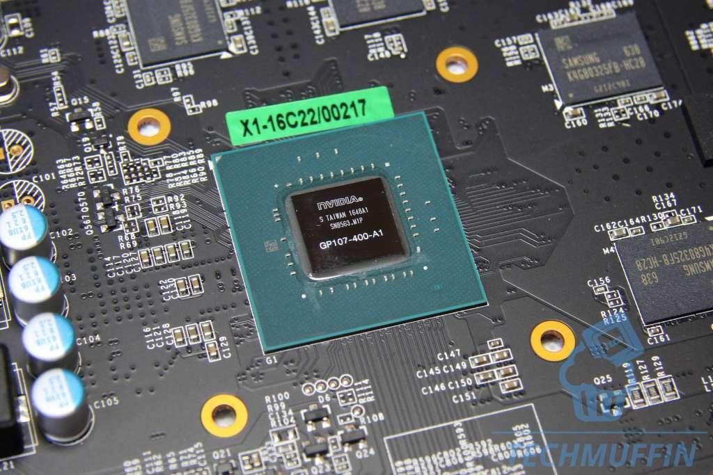 Foto del chip GP107