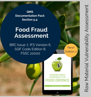 food fraud vulnerability template