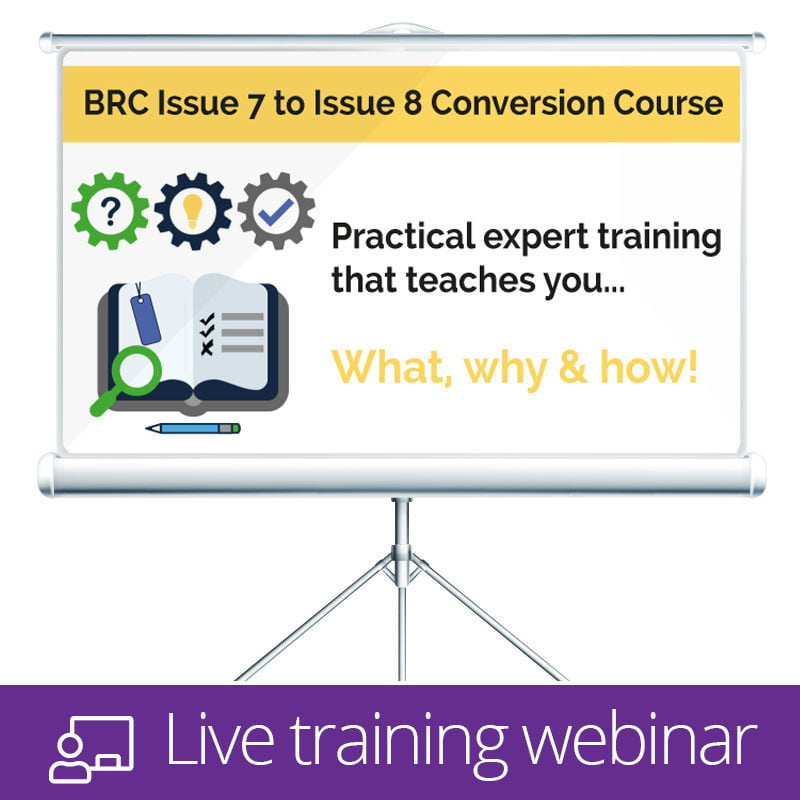 BRC Issue 8 Live Training Webinar