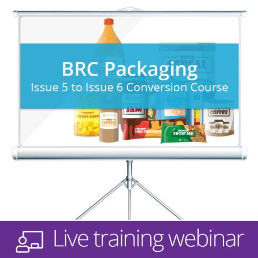 BRC Packaging Live Training Webinar