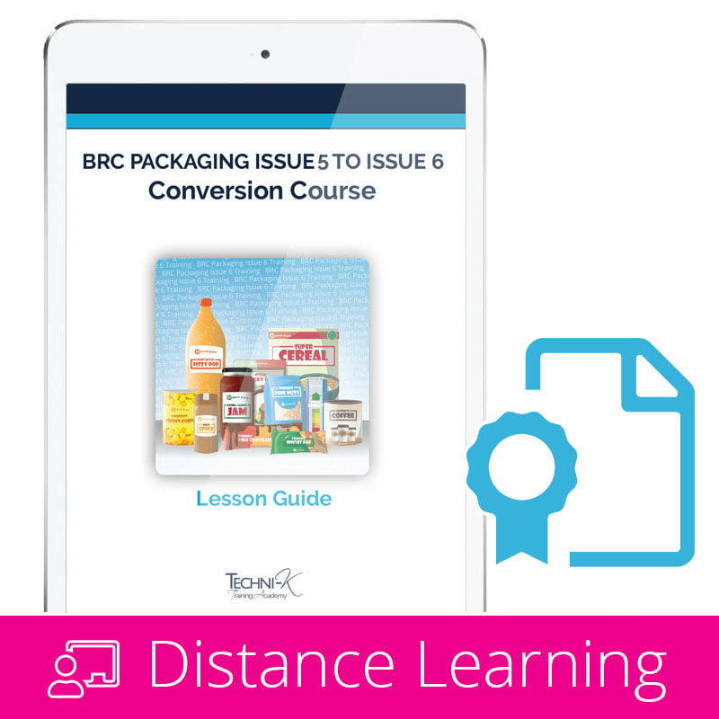 BRC Packaging Issue 5 to issue 6 Conversion course