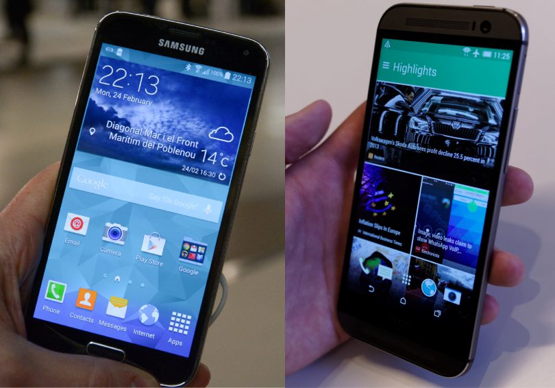 HTC One M8 vs Samsung Galaxy S5 – Den bedste mobil?