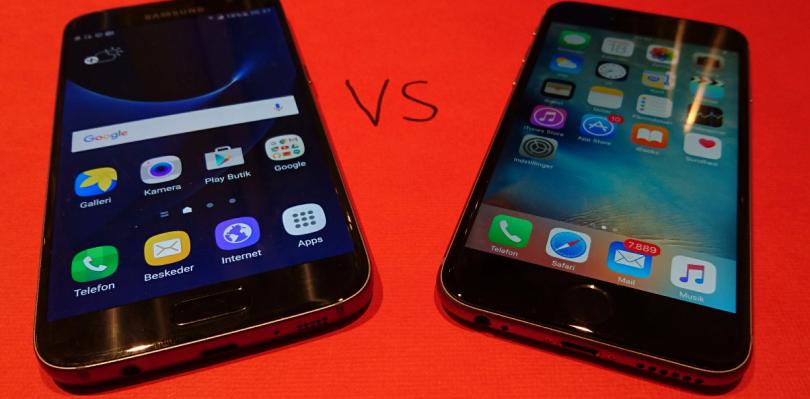 Samsung Galaxy S7 eller iPhone 6S – Hvad skal man vælge?