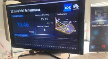 TDC tester 5G – hastigheder op til 70 Gbit/s er målt