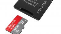 Sandisk microSD kort med sd adapter