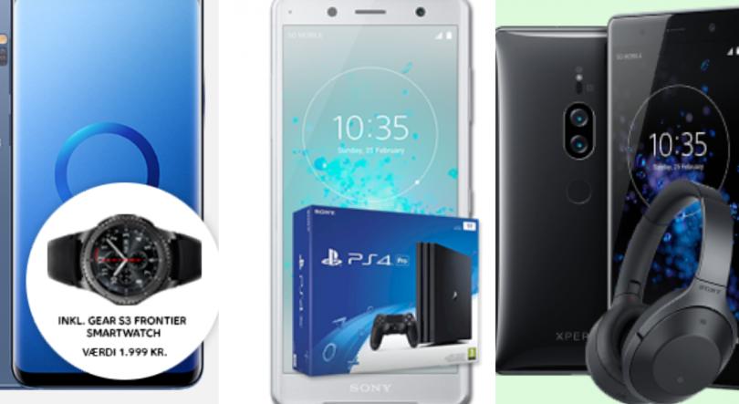 Mobiltelefoner med tilbehør inkluderet i prisen