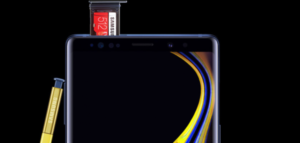 pris samsung galaxy note 9 micro sd kort 512 gb
