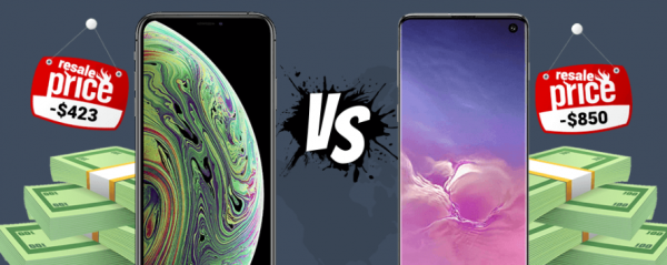afskrivning galaxy s10 vs iphone xs