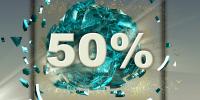 50 procent rabat mobilabonnement